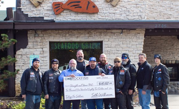 Rockfish Guests and Staff Raise over $10,000 to support Veterans and their families!